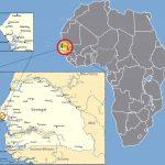 Senegal-Karte/M'bour